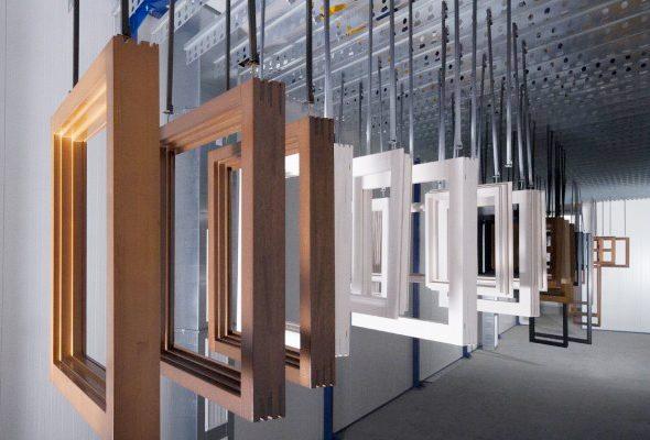 Holzfensterproduktion