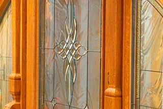 Ornamentglas für Haustüren