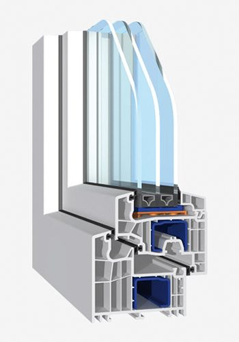 Kunststoff-Profil Blu Evolution 92